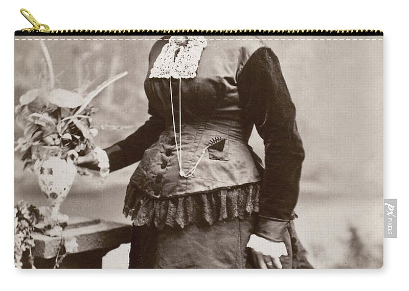 1880 Carry-all Pouch featuring the photograph Women's Fashion, 1880s by Granger