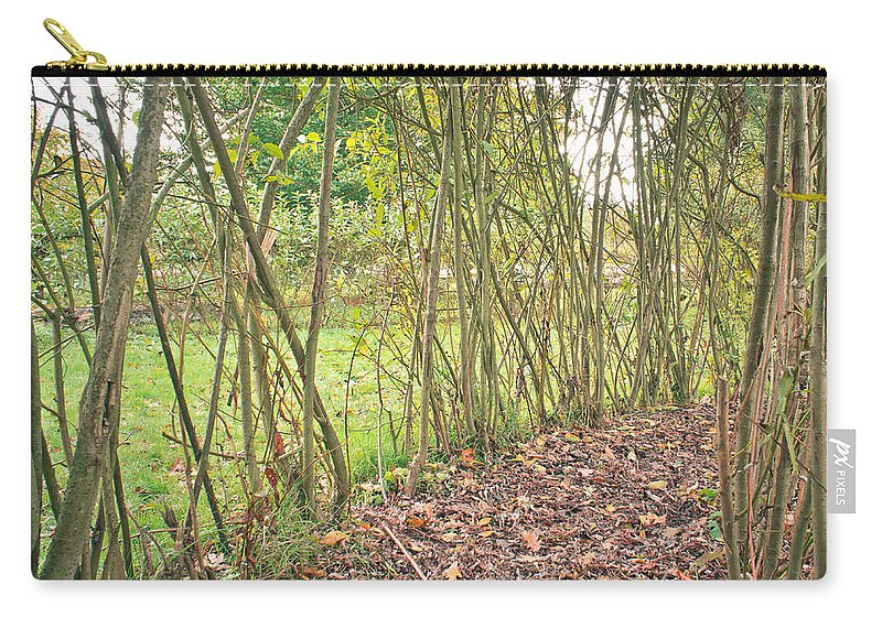 Autumn Carry-all Pouch featuring the photograph Woodland Path by Tom Gowanlock