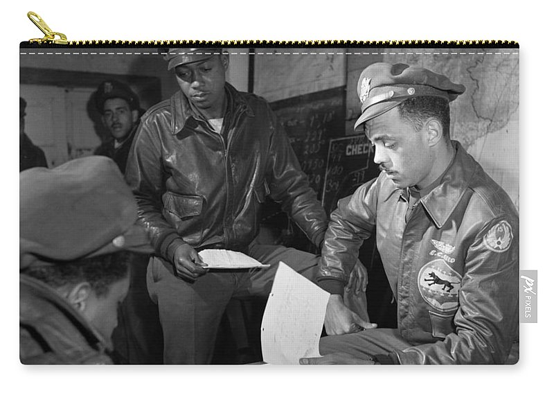 1945 Carry-all Pouch featuring the photograph Wwii: Tuskegee Airmen, 1945 by Granger