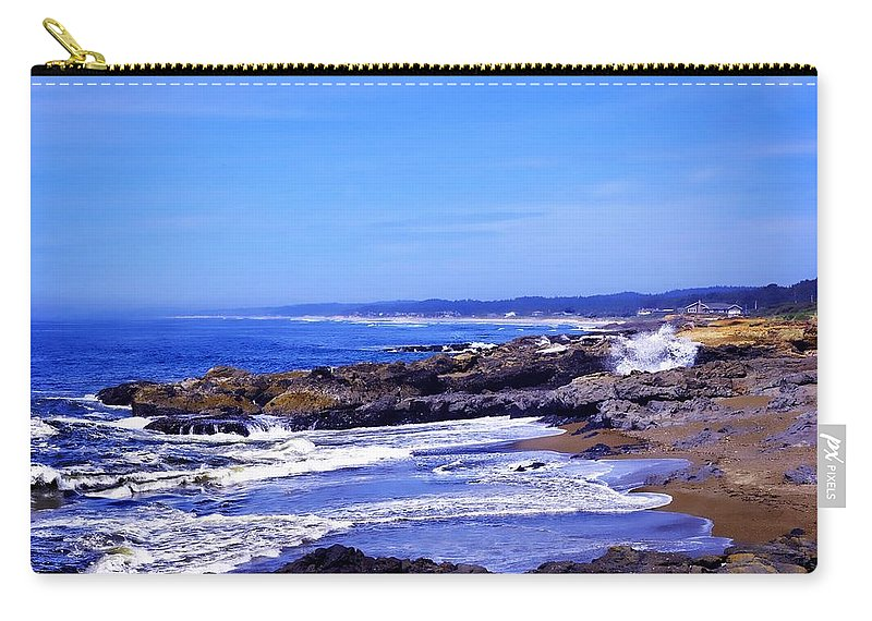 Yachats Carry-all Pouch featuring the photograph Yachats Oregon 2013 by Image Takers Photography LLC