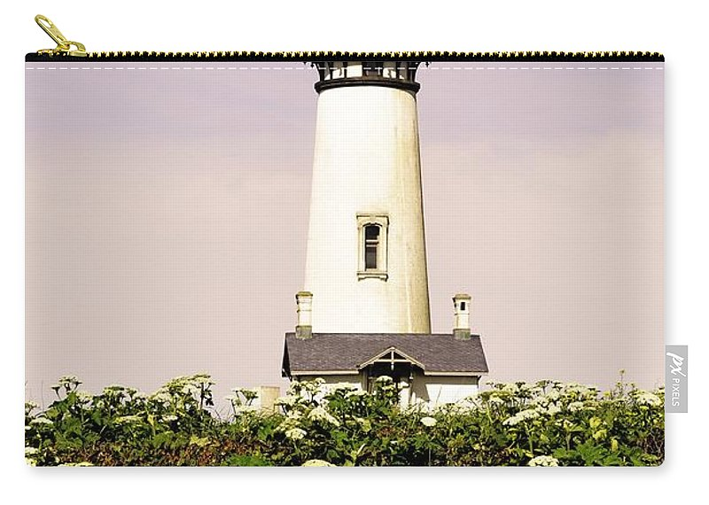 Newport Carry-all Pouch featuring the photograph Yaquina Lighthouse In May by Image Takers Photography LLC - Laura Morgan