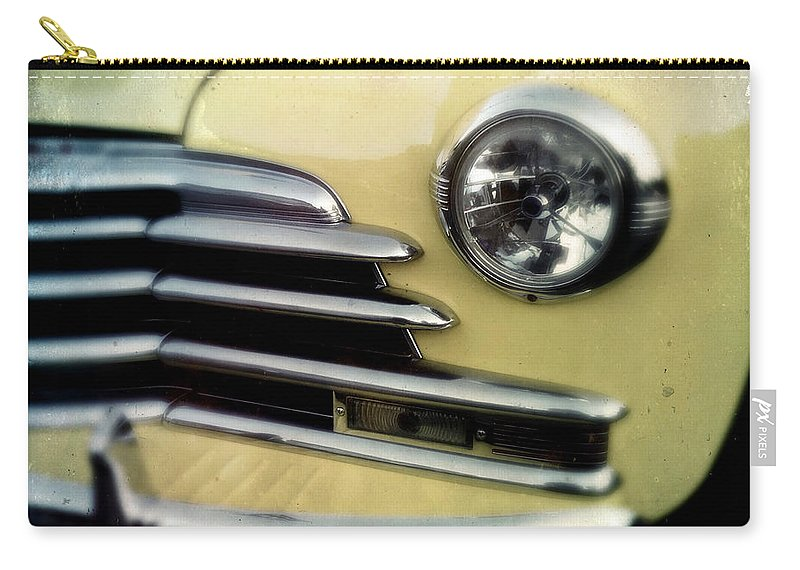Classic Carry-all Pouch featuring the photograph Yellow Chevrolet by Tim Nyberg