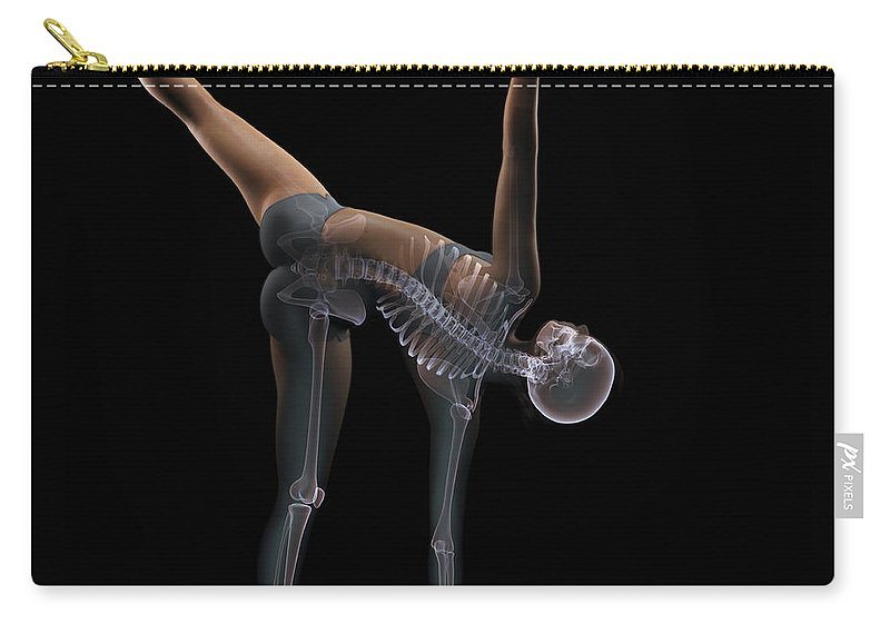 Transparency Carry-all Pouch featuring the photograph Yoga Half Moon Pose by Science Picture Co