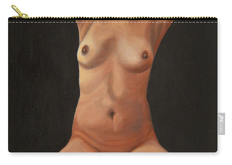 Sexual Carry-all Pouch featuring the painting 10 Am by Thu Nguyen
