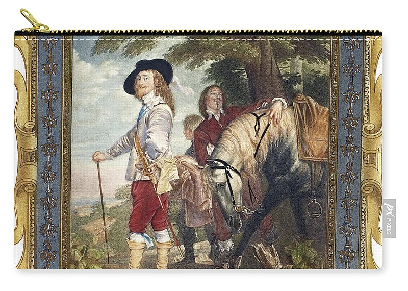 1635 Carry-all Pouch featuring the painting Charles I (1600-1649) by Granger