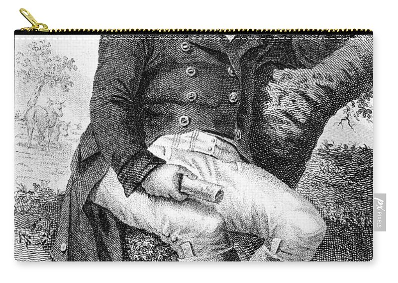 19th Century Carry-all Pouch featuring the photograph Edward Jenner (1749-1823) by Granger