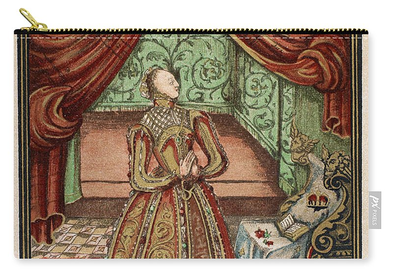 1590s Carry-all Pouch featuring the painting Elizabeth I (1533-1603) by Granger