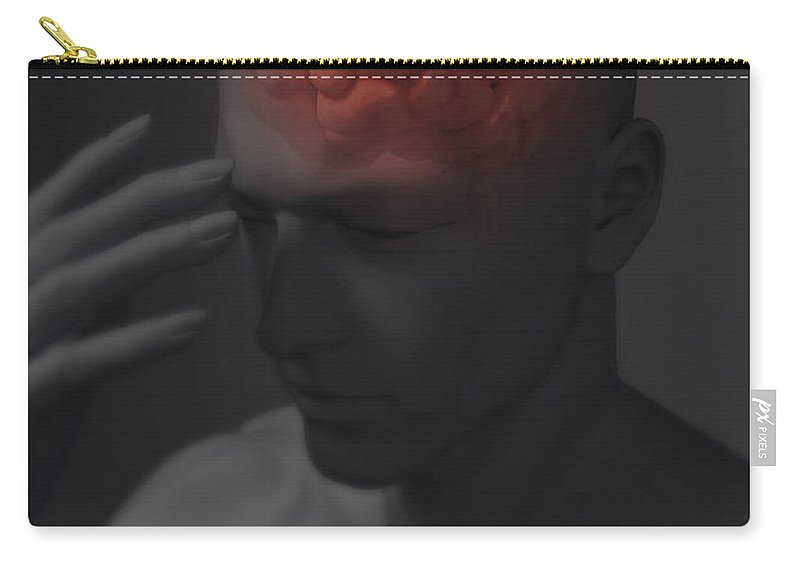 Gyri Carry-all Pouch featuring the photograph Head Pain by Science Picture Co