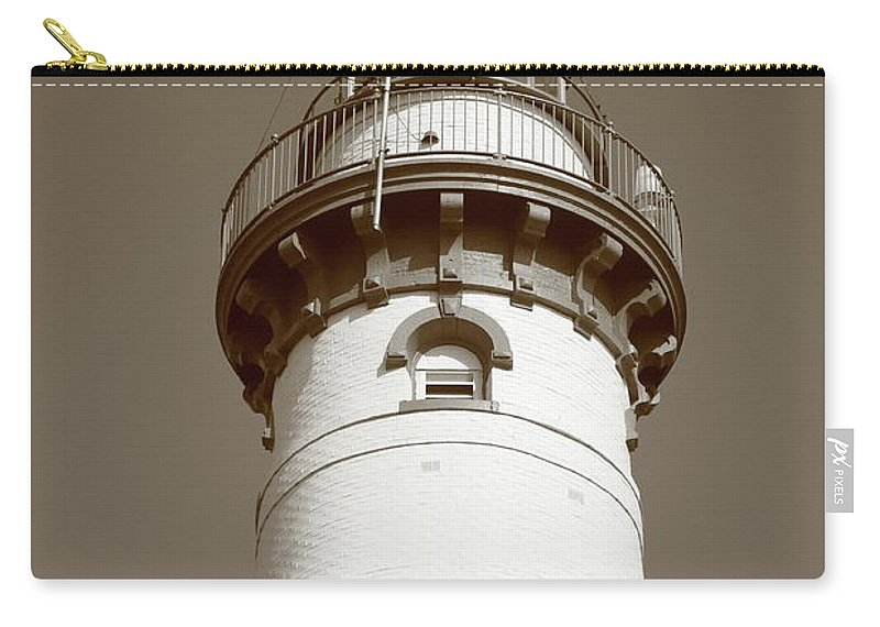 America Carry-all Pouch featuring the photograph Lighthouse - Presque Isle Michigan by Frank Romeo