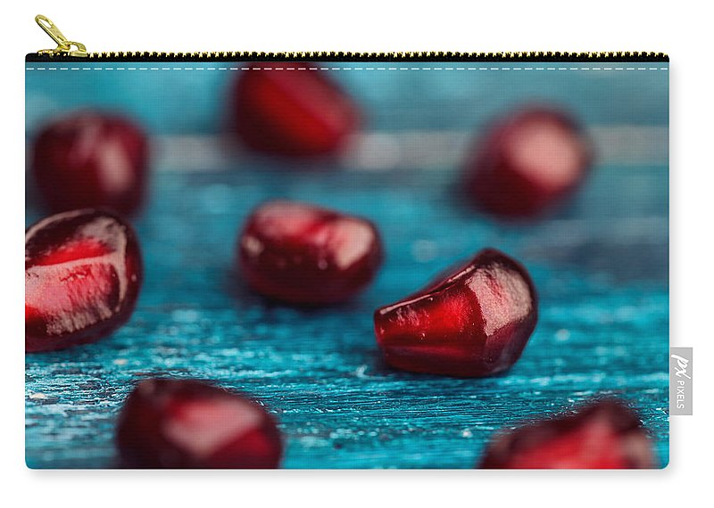 Pomegranate Carry-all Pouch featuring the photograph Pomegranate by Nailia Schwarz