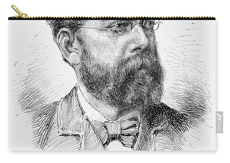 1890 Carry-all Pouch featuring the photograph Robert Koch (1843-1910) by Granger