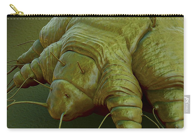 Hominis Carry-all Pouch featuring the photograph Scabies Mite by Science Picture Co