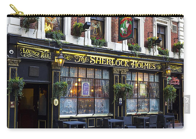 Sherlock Holmes Carry-all Pouch featuring the photograph The Sherlock Holmes Pub by David Pyatt