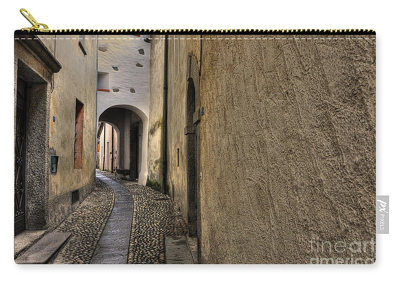 Alley Carry-all Pouch featuring the photograph Tight Alley by Mats Silvan