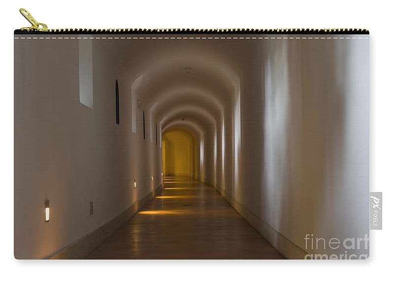 Corridor Carry-all Pouch featuring the photograph Tunnel by Mats Silvan