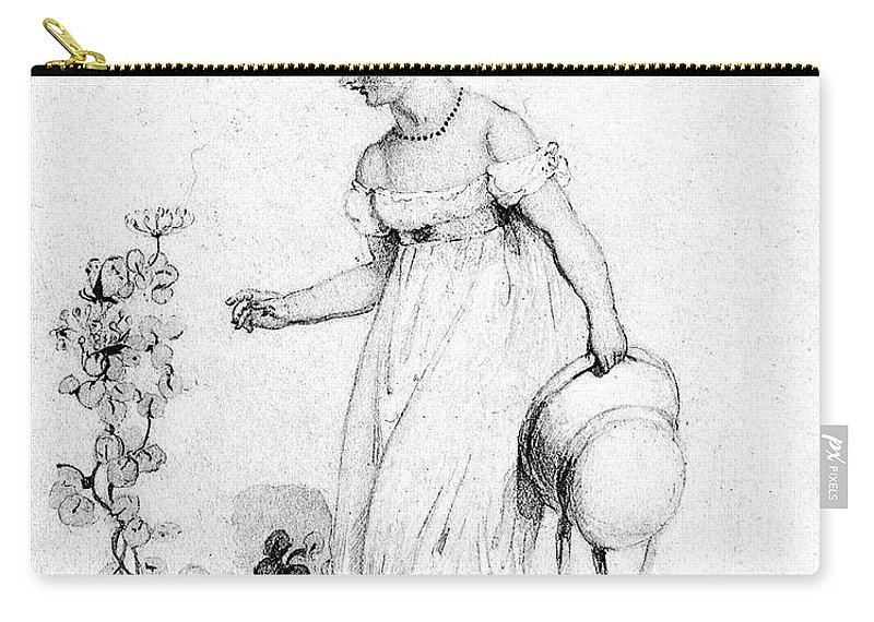 19th Century Carry-all Pouch featuring the drawing Victoria (1819-1901) by Granger