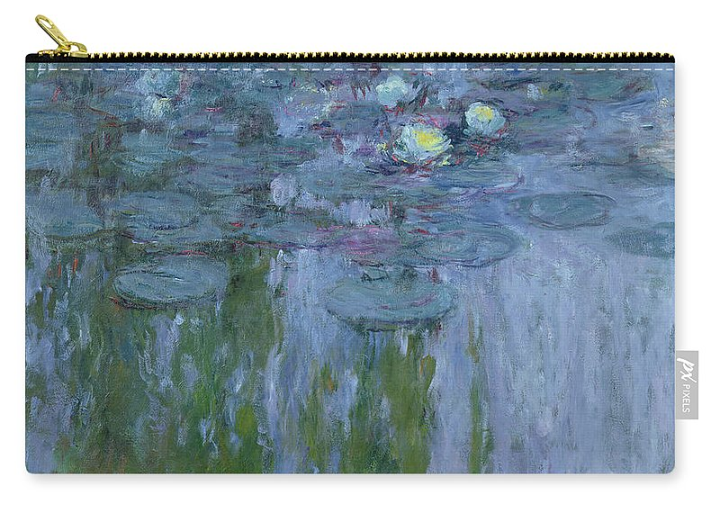 Nympheas Carry-all Pouch featuring the painting Waterlilies by Claude Monet