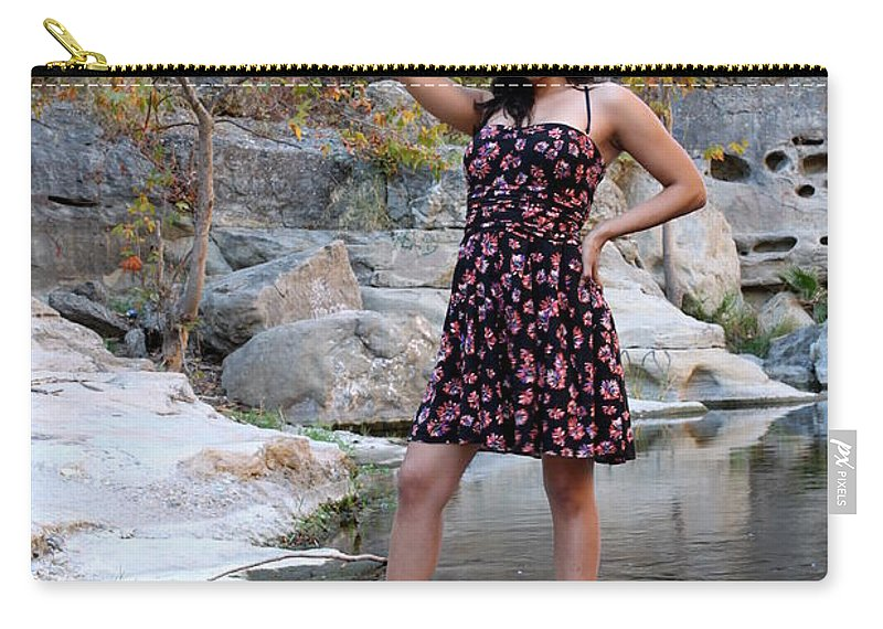 Young Carry-all Pouch featuring the photograph Young Hispanic Woman by Henrik Lehnerer