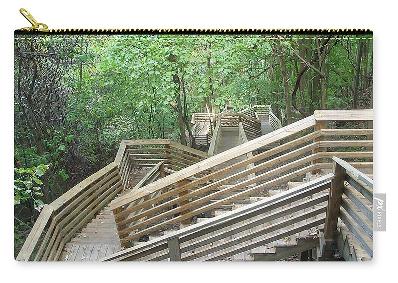 1000 Steps Carry-all Pouch featuring the photograph 1000 Steps by Aimee L Maher ALM GALLERY