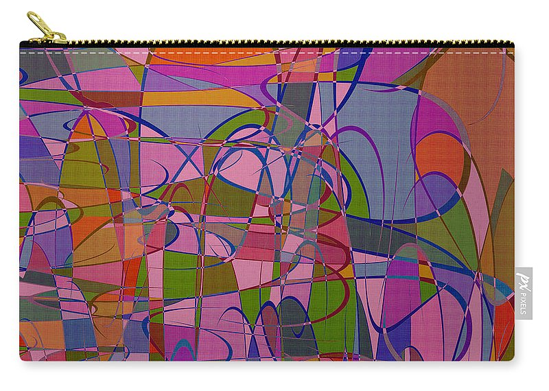 Abstract Carry-all Pouch featuring the digital art 1008 Abstract Thought by Chowdary V Arikatla