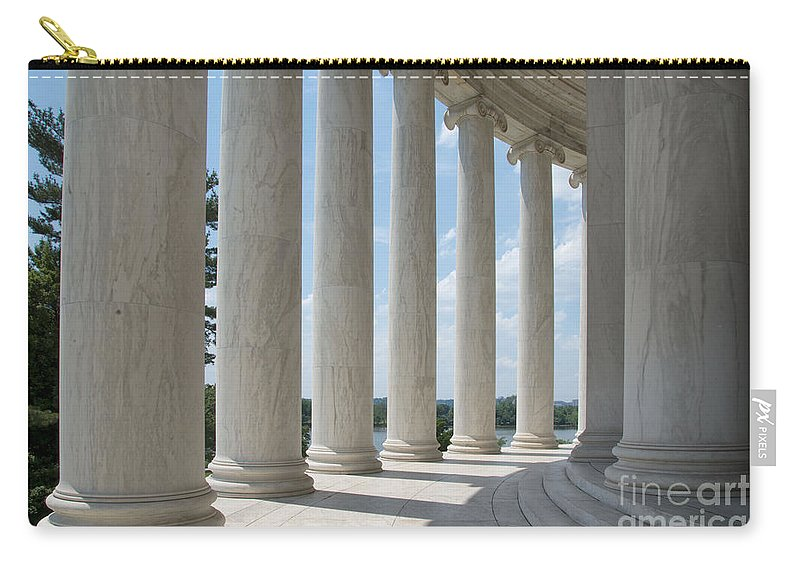 Thomas Jefferson Memorial Carry-all Pouch featuring the digital art Thomas Jefferson Memorial by Carol Ailles