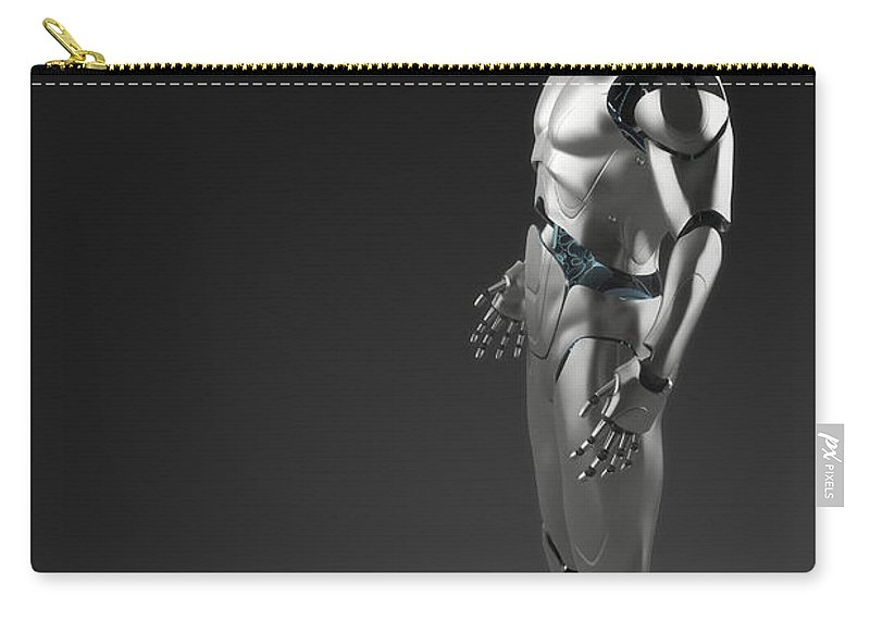 Full View Carry-all Pouch featuring the photograph Android by Science Picture Co