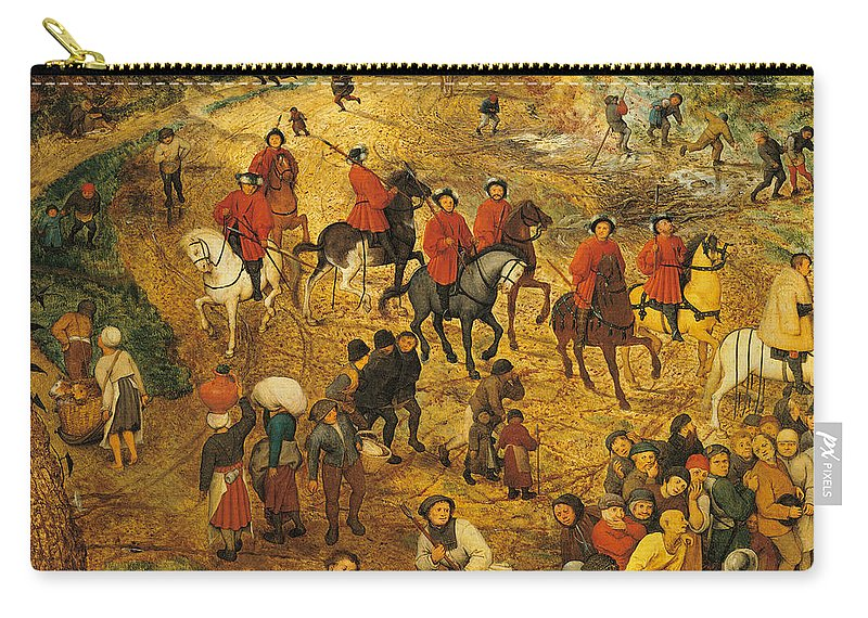 Adult Carry-all Pouch featuring the painting Ascent To Calvary, By Pieter Bruegel by Pieter the Elder Bruegel