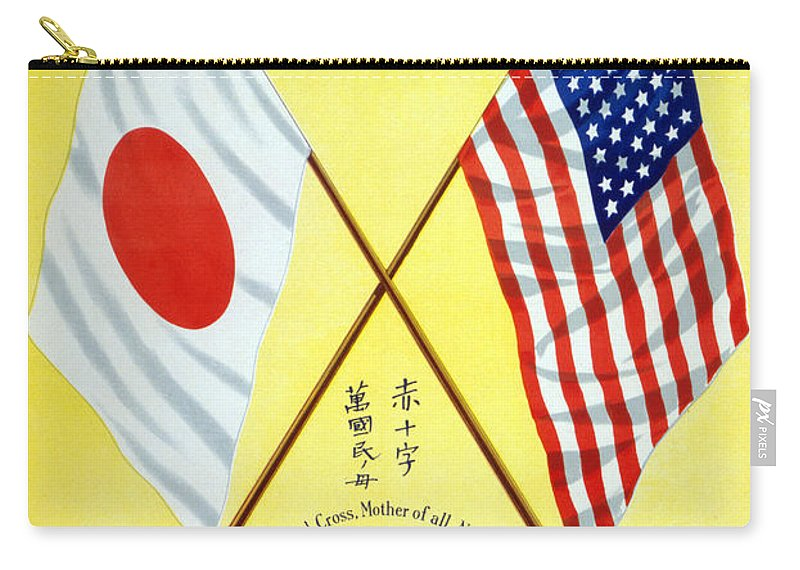 1917 Carry-all Pouch featuring the photograph Red Cross Poster, C1917 by Granger