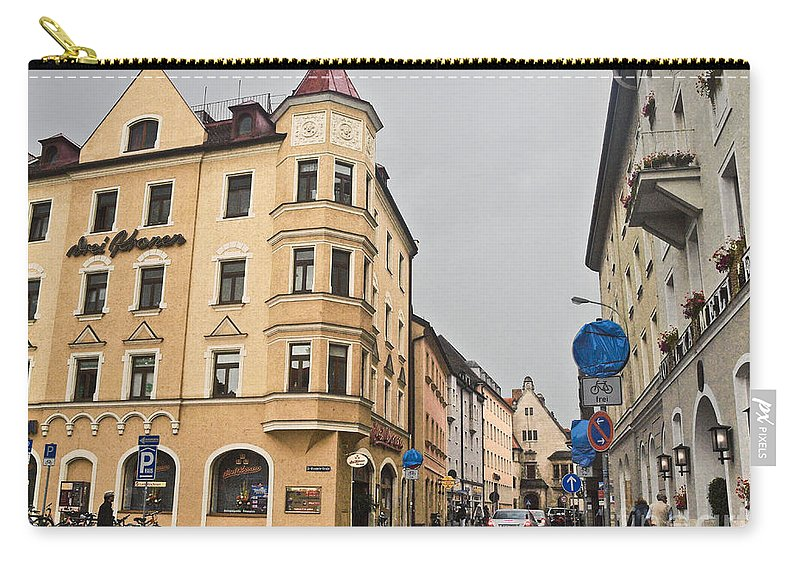 Corner Building Carry-all Pouch featuring the photograph Regensburg Germany by Howard Stapleton