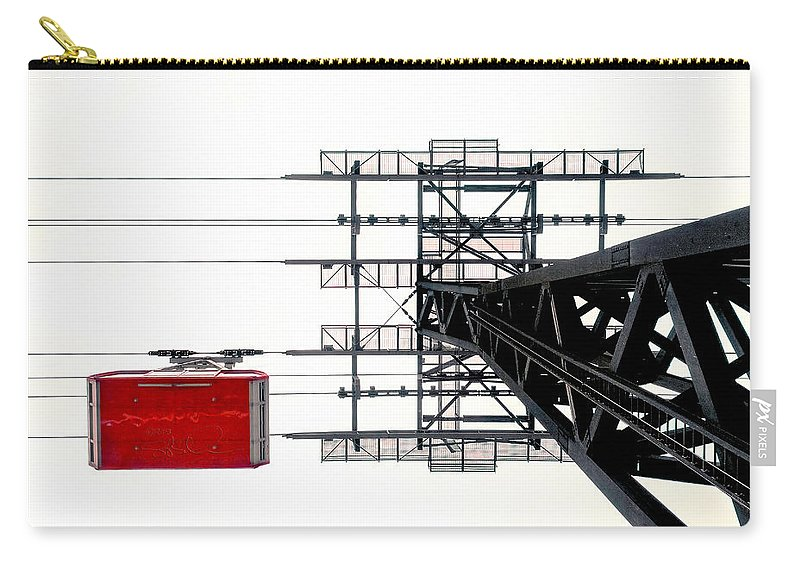 Roosevelt Island Tram Carry-all Pouch featuring the photograph 110 People Max by S Paul Sahm