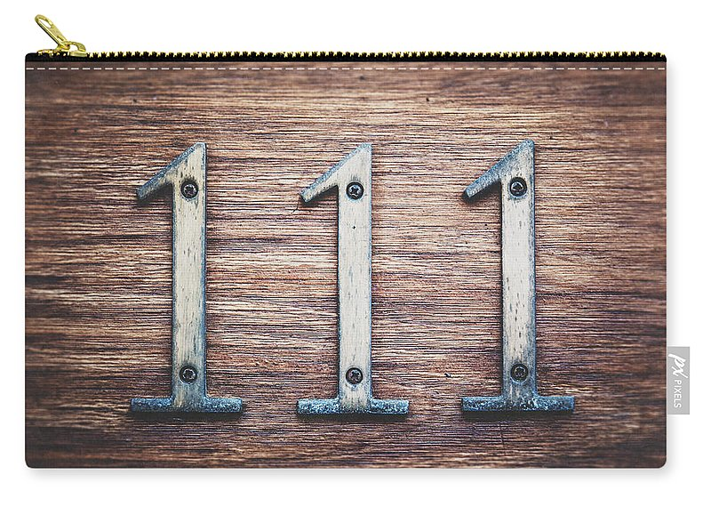 Numbers Carry-all Pouch featuring the photograph 111 Or 3 by Lisa Russo