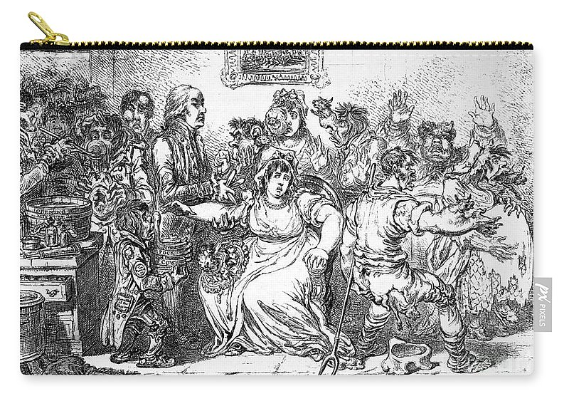 1802 Carry-all Pouch featuring the photograph Edward Jenner (1749-1823) by Granger