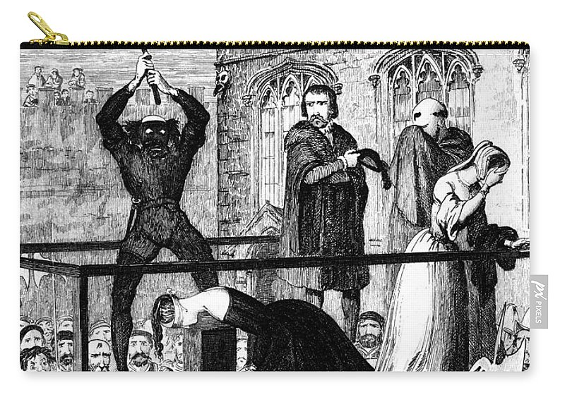 16th Century Carry-all Pouch featuring the painting Lady Jane Grey (1537-1554) by Granger