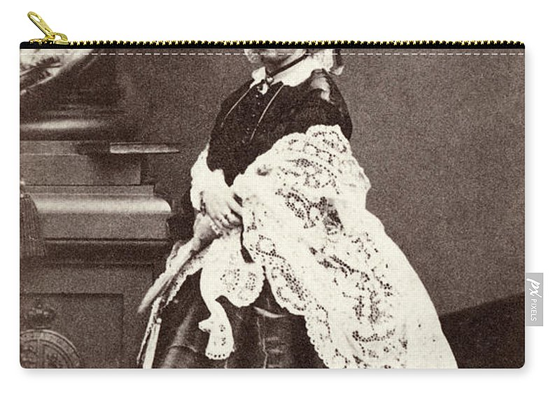 1860 Carry-all Pouch featuring the painting Queen Victoria (1819-1901) by Granger