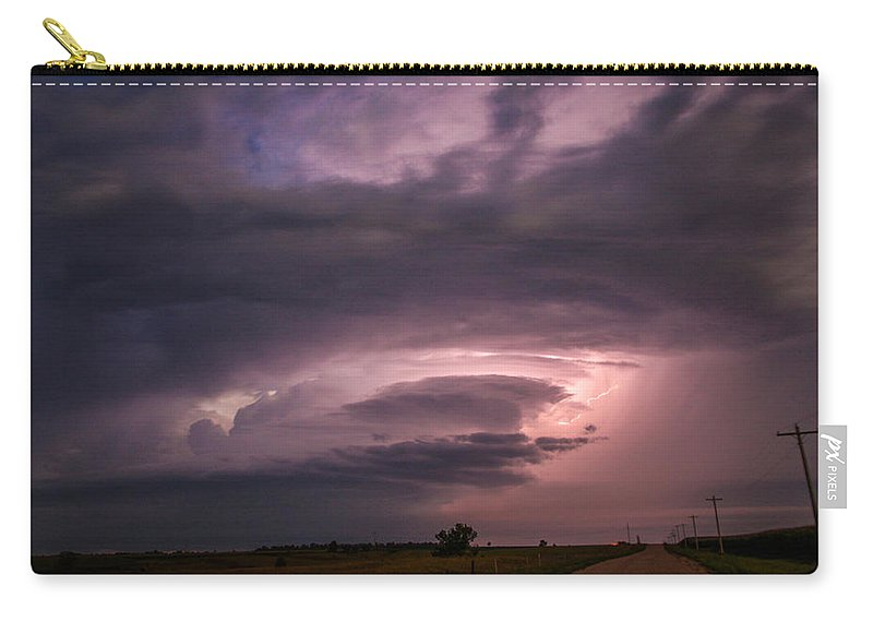 Stormscape Carry-all Pouch featuring the photograph Wicked Good Nebraska Supercell by NebraskaSC