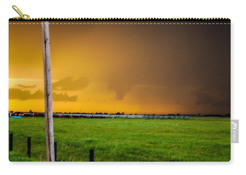 Nebraskasc Carry-all Pouch featuring the photograph Excellent Severe T-boomers South Central Nebraska by NebraskaSC