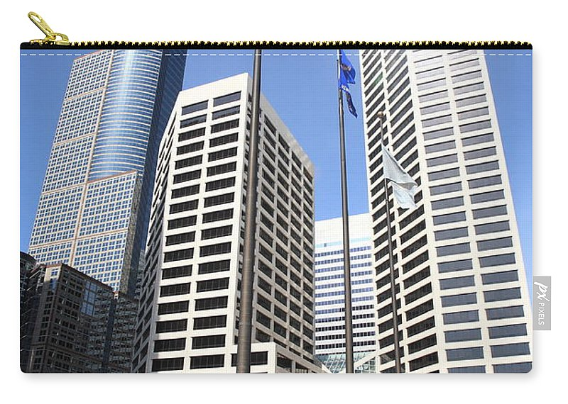 America Carry-all Pouch featuring the photograph Minneapolis Skyscrapers by Frank Romeo