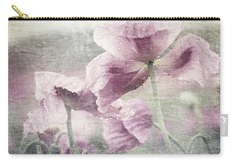 Poppy Carry-all Pouch featuring the mixed media Poppy by Heike Hultsch