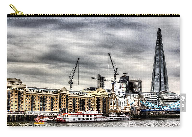 Butlers Wharf Carry-all Pouch featuring the photograph River Thames View by David Pyatt
