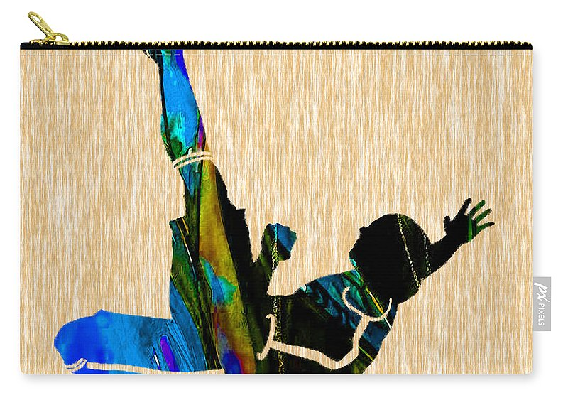 Soccer Carry-all Pouch featuring the mixed media Soccer by Marvin Blaine