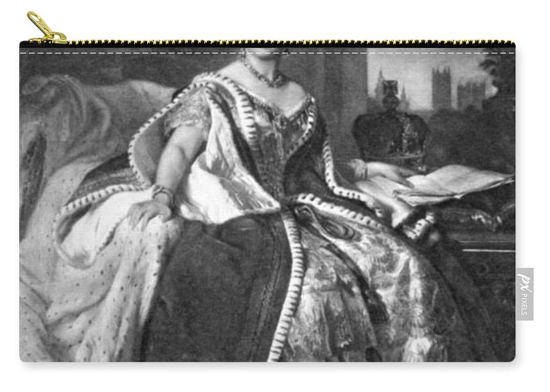 1845 Carry-all Pouch featuring the painting Victoria (1819-1901) by Granger