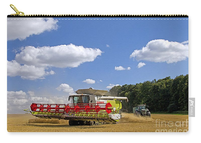 Combine Harvester Carry-all Pouch featuring the photograph 130201p023 by Arterra Picture Library