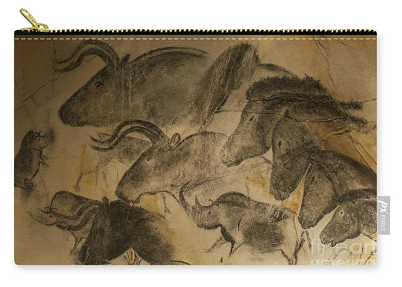 Chauvet Carry-all Pouch featuring the photograph 131018p051 by Arterra Picture Library