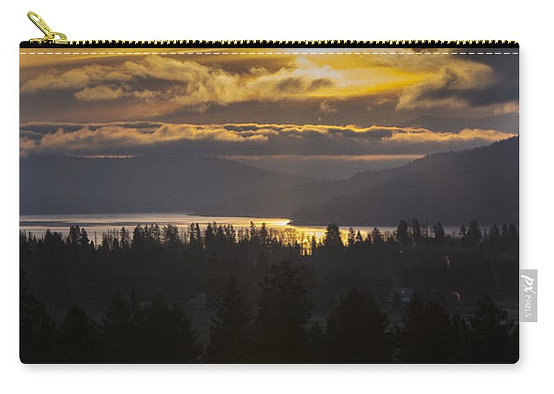 Sandpoint Carry-all Pouch featuring the photograph 131127a-18 Sandpoint Winter Sunrise by Albert Seger
