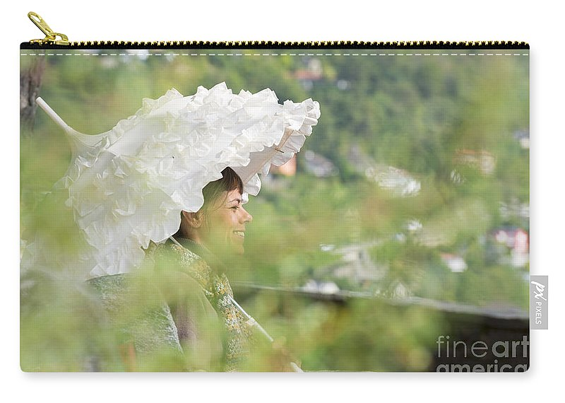 Woman Carry-all Pouch featuring the photograph Umbrella by Mats Silvan