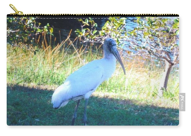Lakes Park Carry-all Pouch featuring the photograph Wood Stork by Robert Floyd