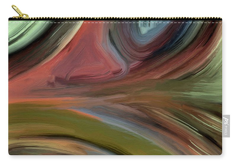 Abstract Carry-all Pouch featuring the painting 145a by Ely Arsha