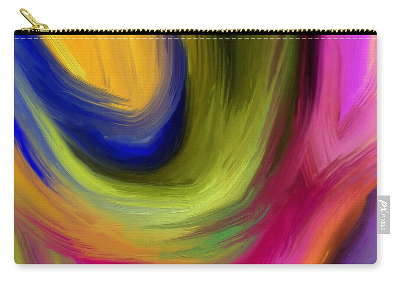 Abstract Carry-all Pouch featuring the painting 148a by Ely Arsha