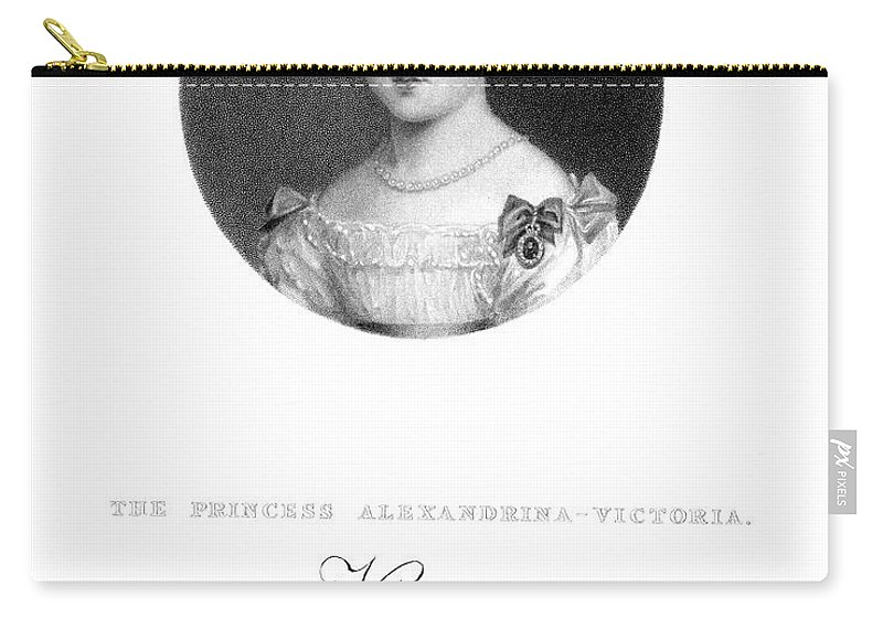 1826 Carry-all Pouch featuring the painting Victoria (1819-1901) by Granger