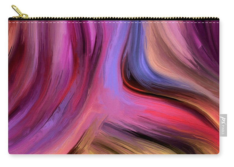 Abstract Carry-all Pouch featuring the painting 150a by Ely Arsha